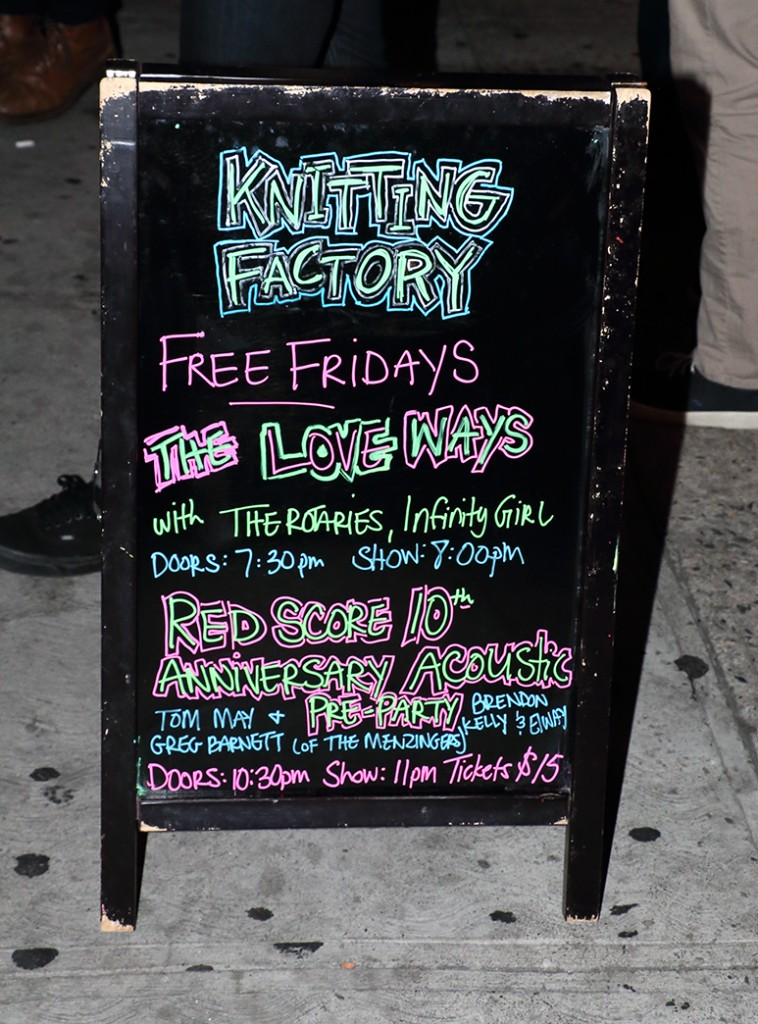 Knitting Factory was a great host