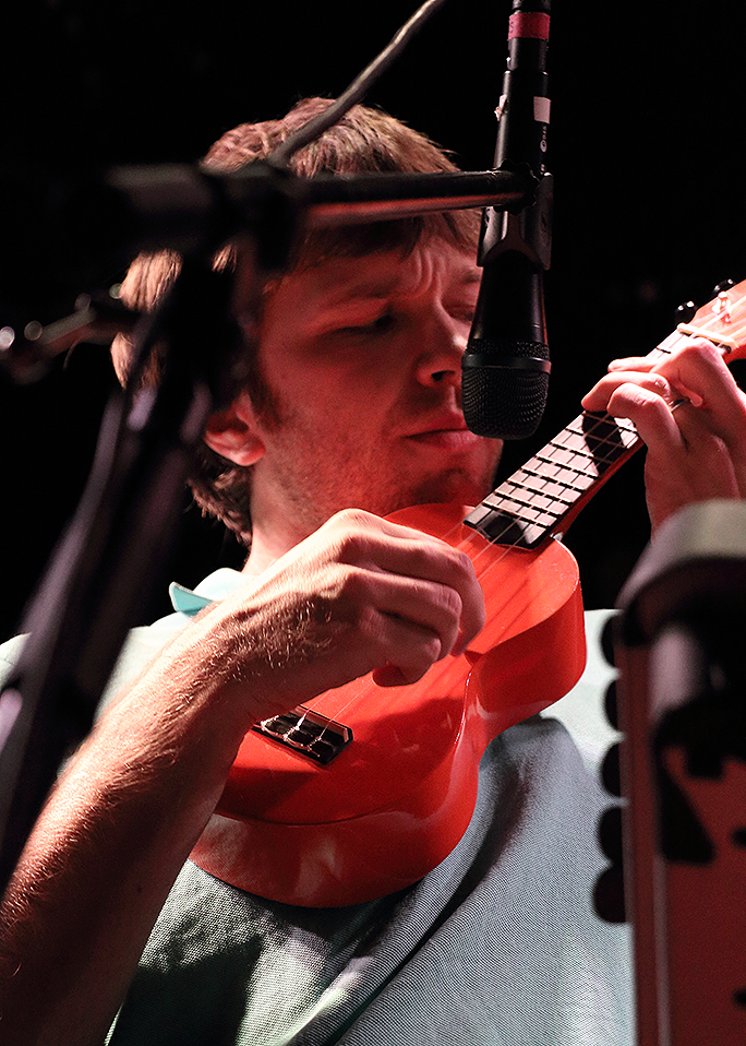 Andy Ross with a Ukulele