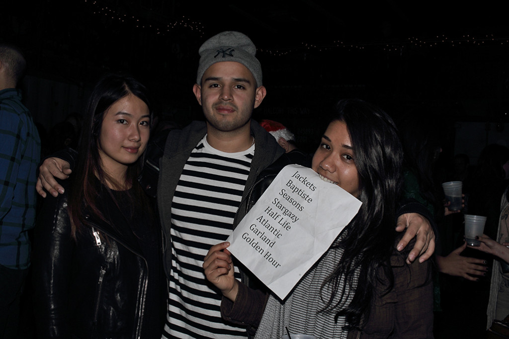 Our senior writer and some fans with Stargazy's setlist