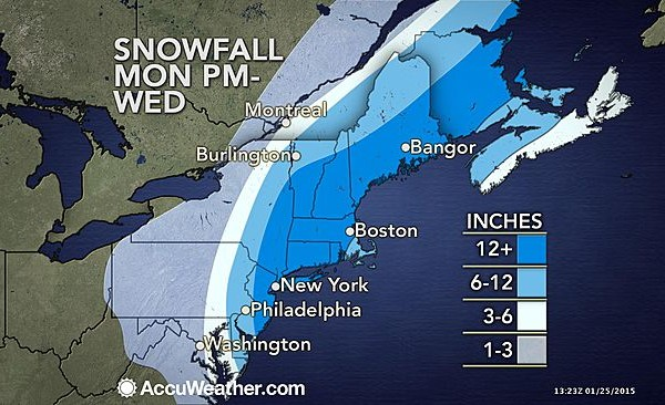 Winter storm Juno set to hit NYC Monday and Tuesday