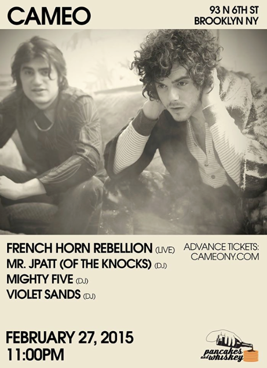 French Horn Rebellion Live At Cameo Gallery on 2-27