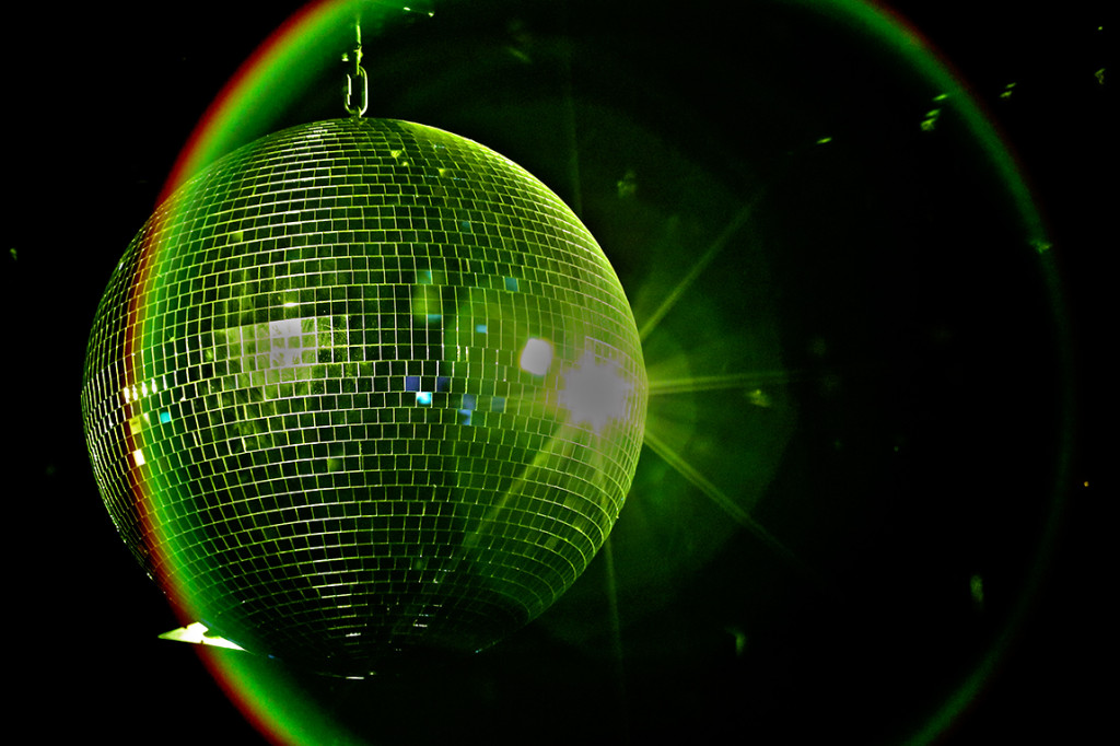 Disco ball being groovy