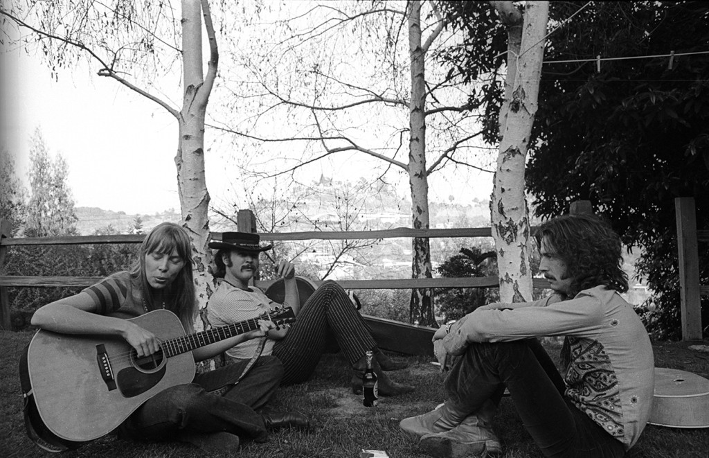 Joni, David Crosby, and Clapton