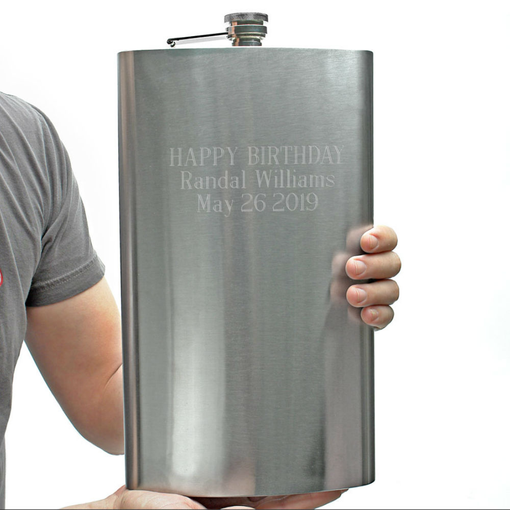 Giant Engraved Flask