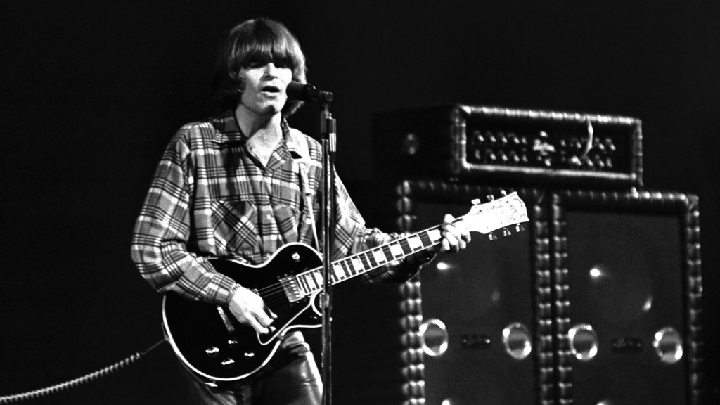 Creedence Clearwater Revival CCR 1970 John Fogerty at  Albert Hall (Photo by Chris Walter/WireImage)