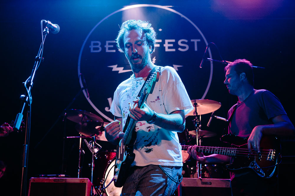 "Ryan Miller performing ""Walk On"" at Neil Fest - A Night to Celebrate the Music of Neil Young at Bowery Ballroom on September 14th, 2015 with Cabin Down Below band and tons of guests. (Photos: Sachyn Mital)."