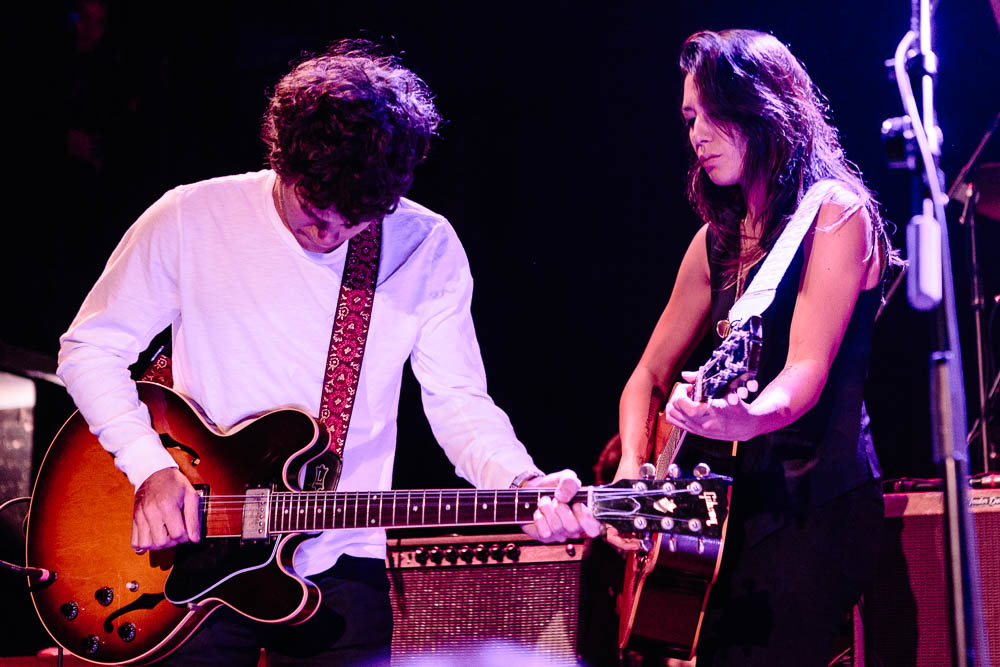 Michelle Branch and Gus Wenner performing