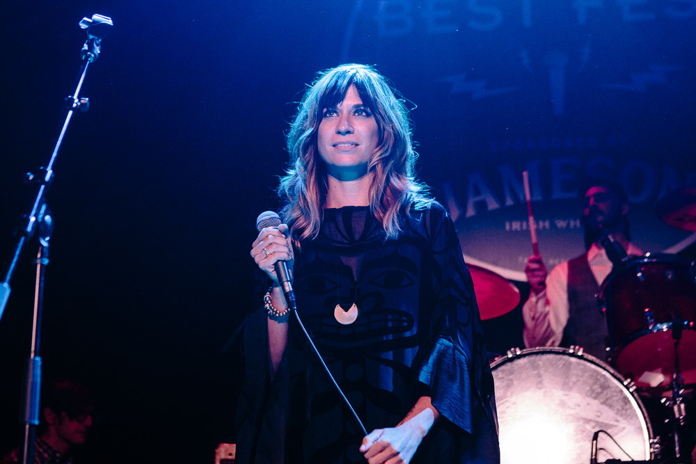 Nicole Atkins performing