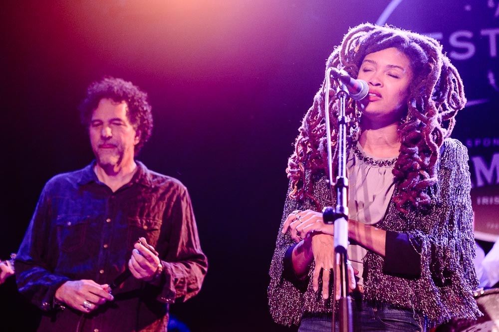 Valerie June performing