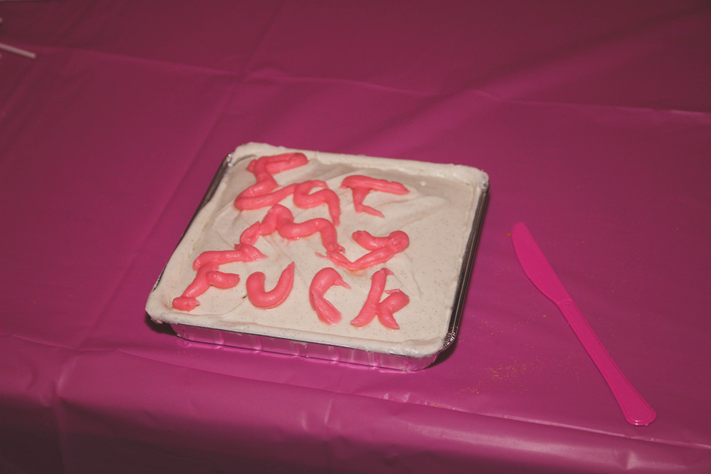 """Eat My Fuck"" cake"