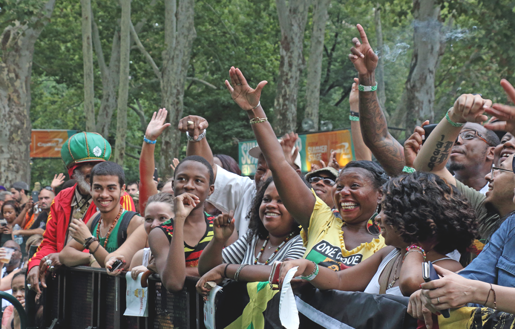 Reggae crowd