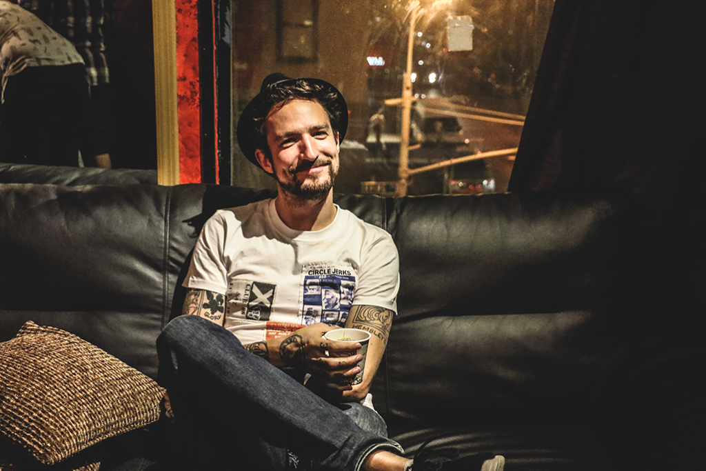 Frank Turner Backstage At Irving Plaza