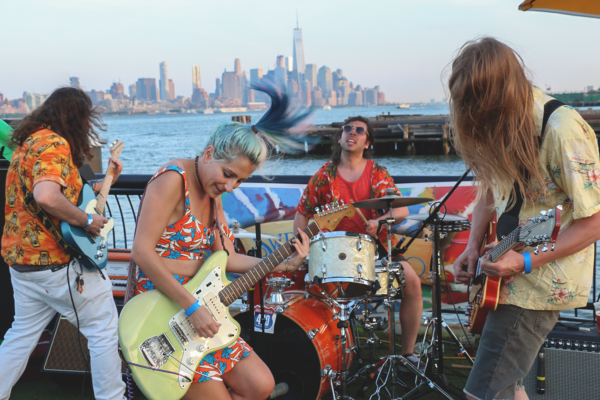 THE KIDS GO NUTS FOR HIGH WAISTED AT PIER 13 IN HOBOKEN