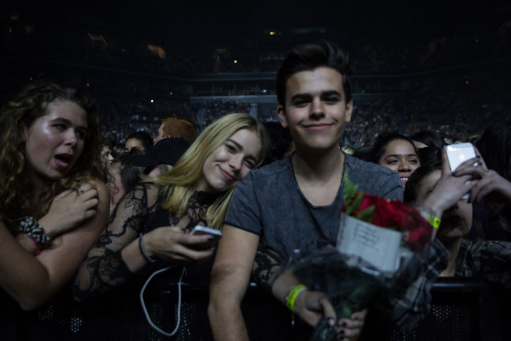 Fans with flowers