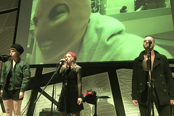 "PUSSY RIOT THEATER PREACHED ""REVOLUTION"" AT NATIONAL SAWDUST"