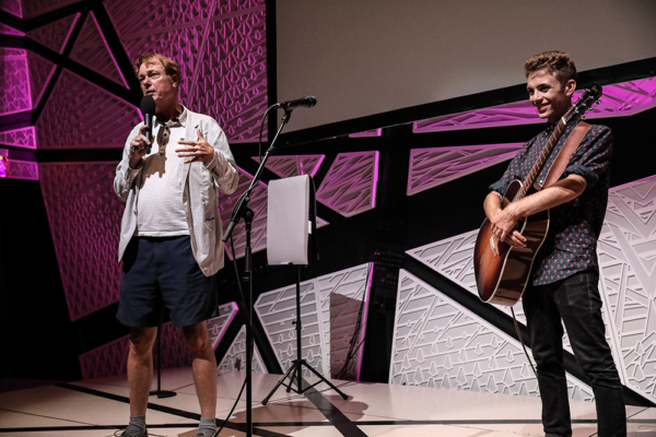 BILL PLYMPTON DREW & MATT JAFFE JAMMED AT NATIONAL SAWDUST